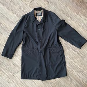 Bugatti Black Trench Overcoat